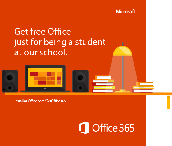 Microsoft. Get free Office just for being a student at our school. Install at Office.com