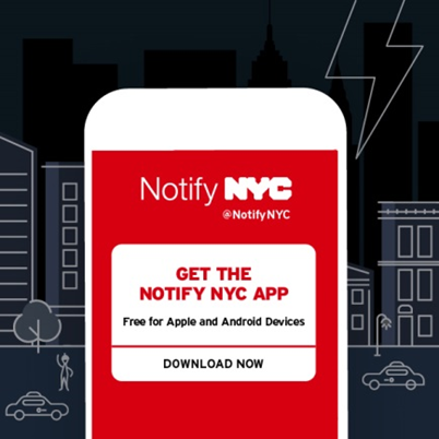 Notify NYC @NotifyNYC  Get the notify NYc app, free for apple and android devices. Download now.