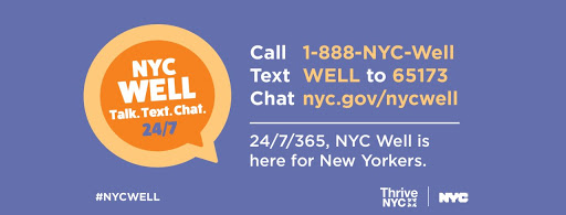 NYC WELL Talk. Text. Chat. 24/7