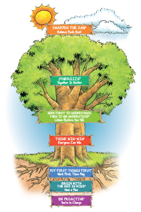 The 7 habits tree, Leader in Me School