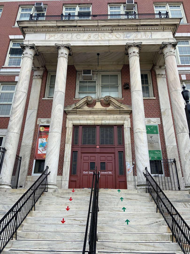 Front of P.S. 216 School Building