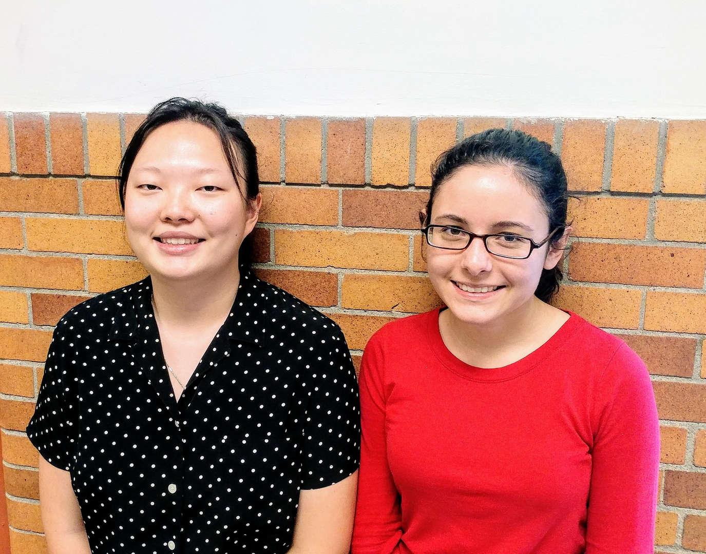 Students Joy Won and Claire McMahon