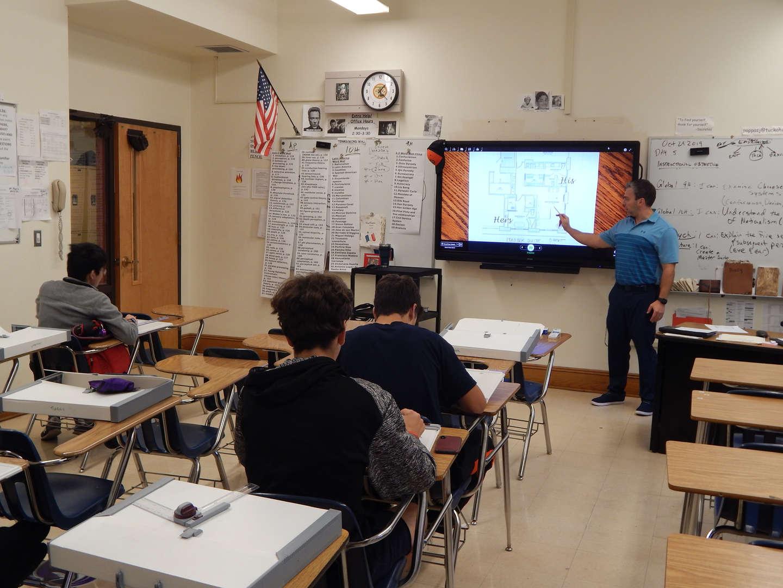 Mr. Pappas teaching class