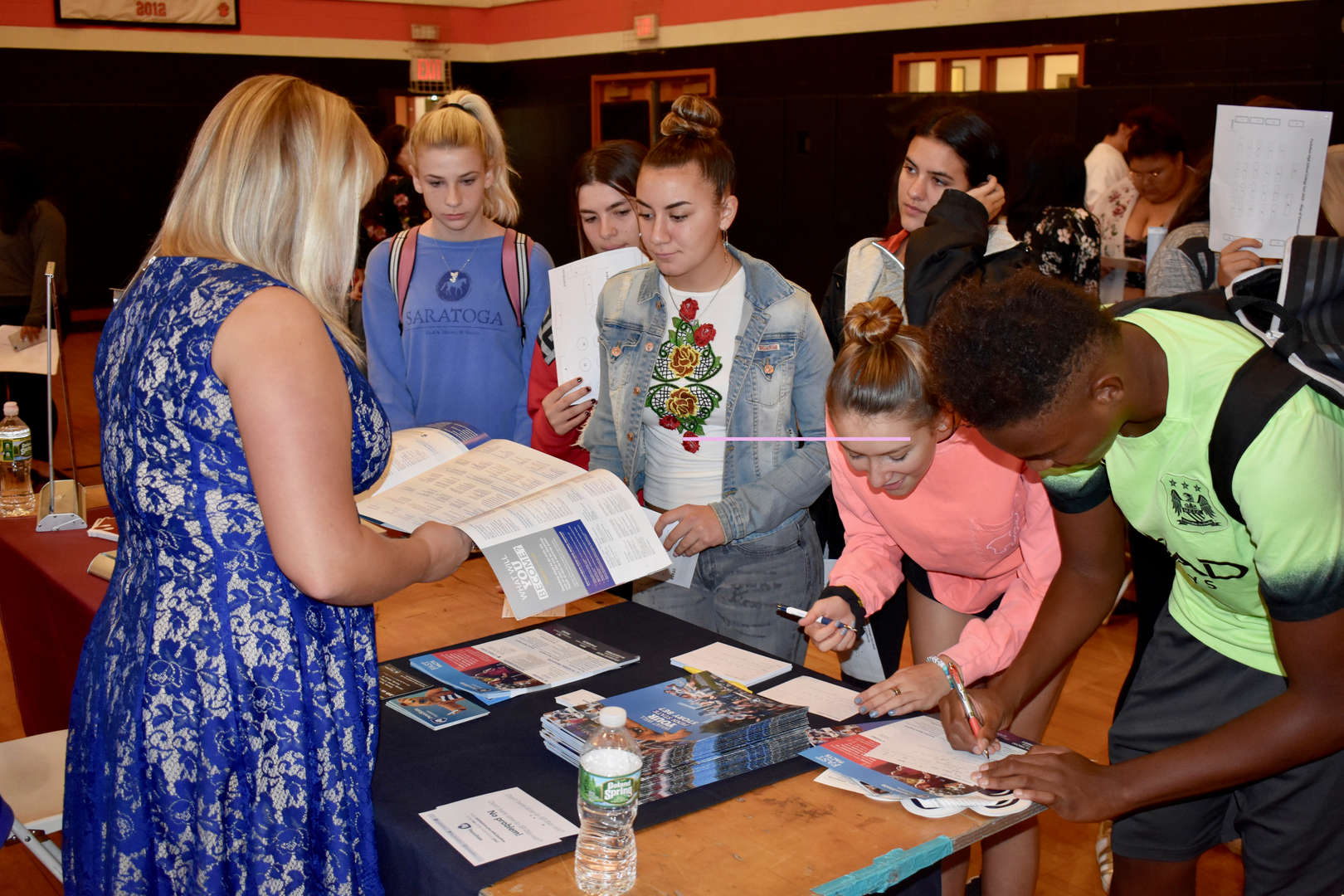 Tuckahoe High School students at the College Fair