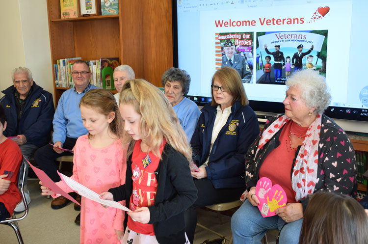 Hegarty Celebrates Valentines and Veterans