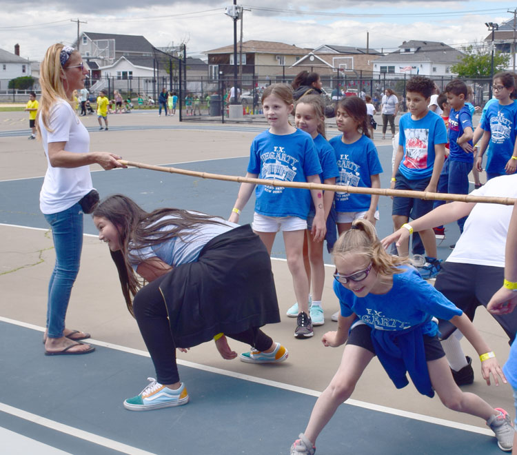 Hegarty students took on a limbo challenge during Field Day.