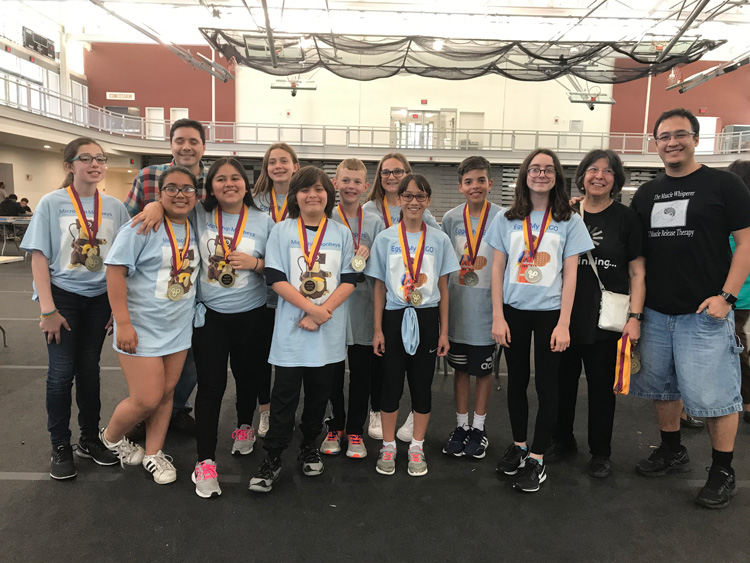 Island Park students took first place overall at the Adelphi STEP Statewide Middle School Competition.