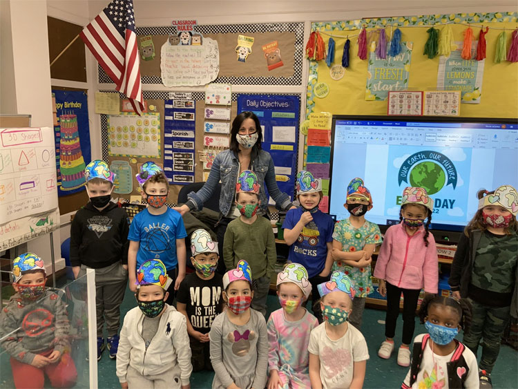 Happy Earth Day from Ms. La Centra's kindergarten class!