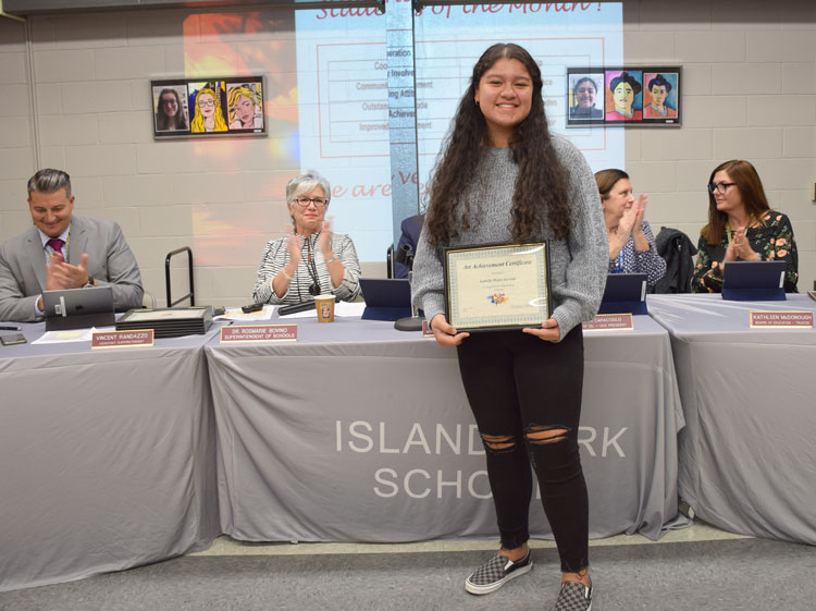 Mejia-Acevedo was one of several Art Achievement Certificate recipients.