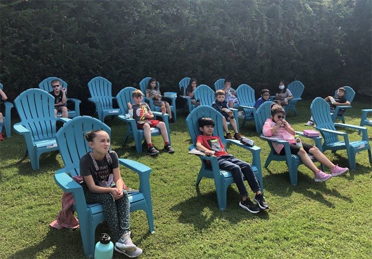 Students were fully engaged and so happy to be learning outdoors!