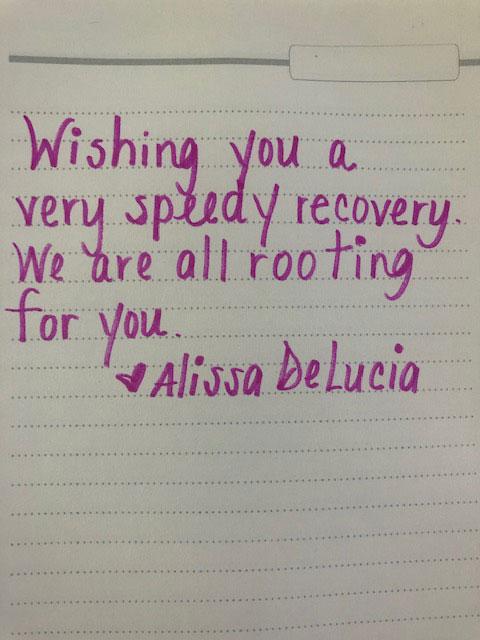 From Alissa Delucia