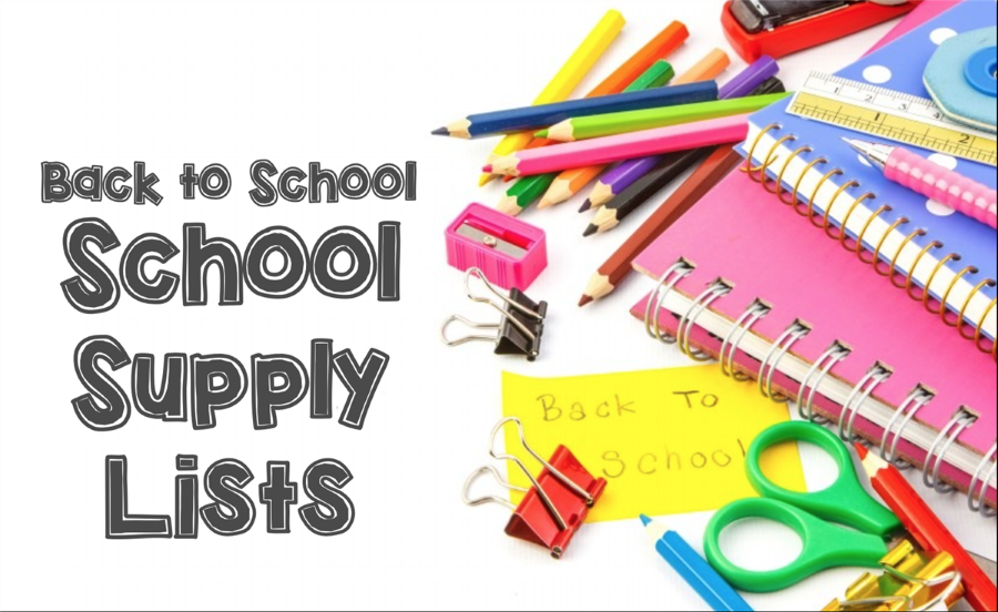 Back to School Supply Lists on Building Home Pages under Principal's Message.  Schools open for students Wednesday September 4th.