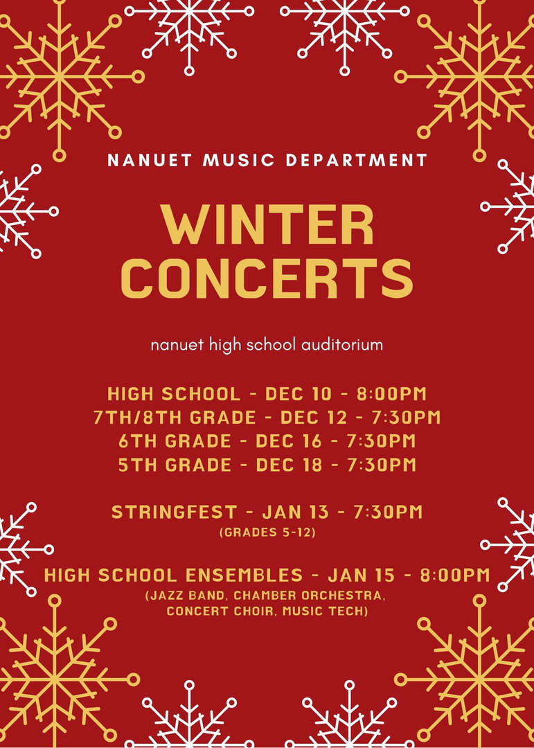Flyer for Winter Concerts