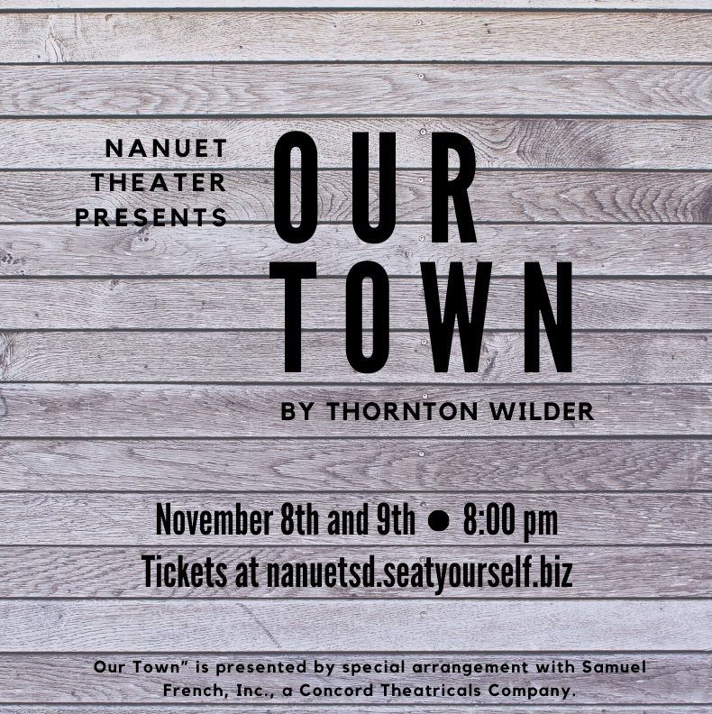 Our Town presented by Nanuet Theater November 8th and 9th 8:00. Get your tickets.