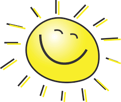 Smiling sun graphic