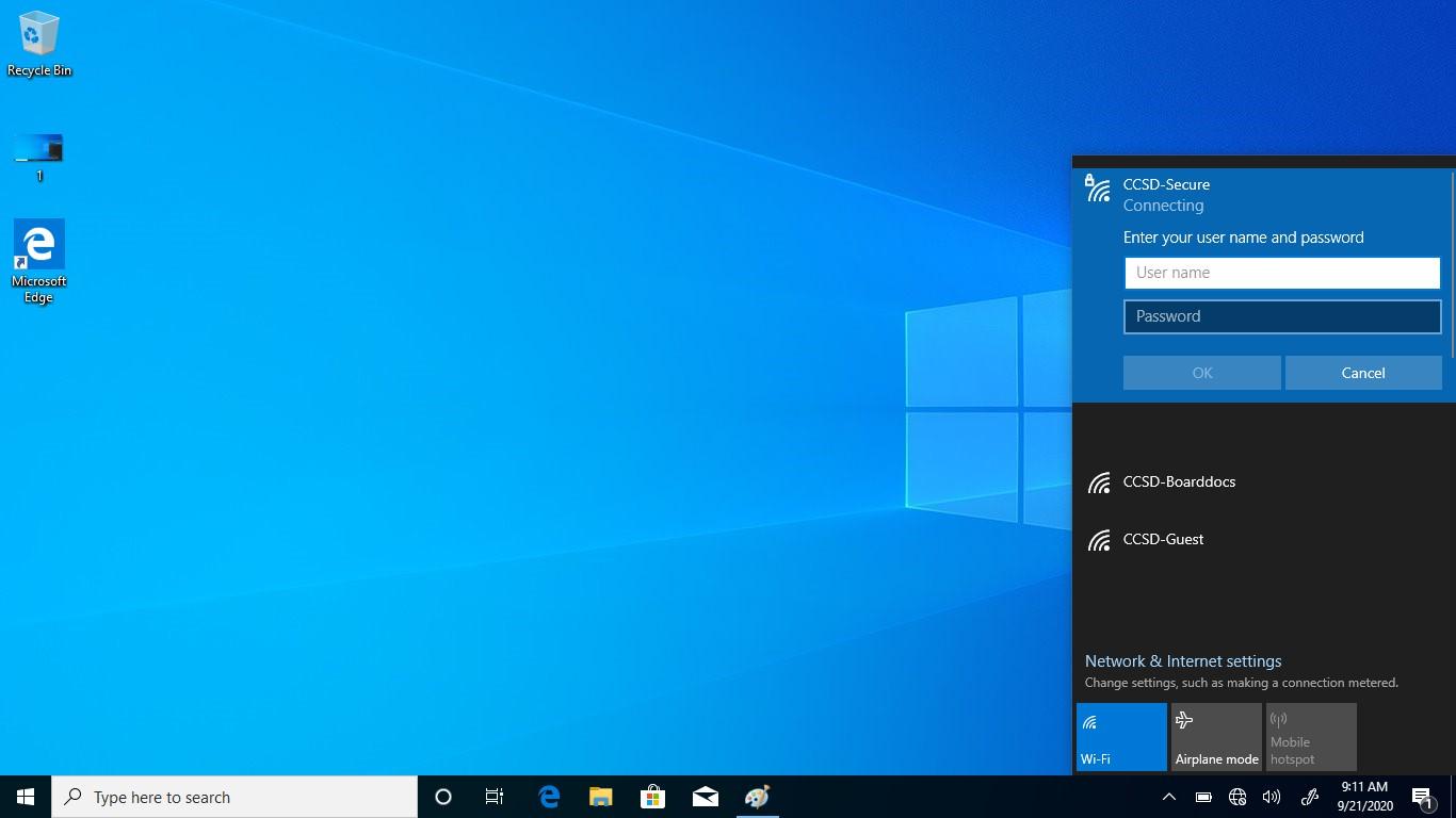 Windows 10- enter your computer username