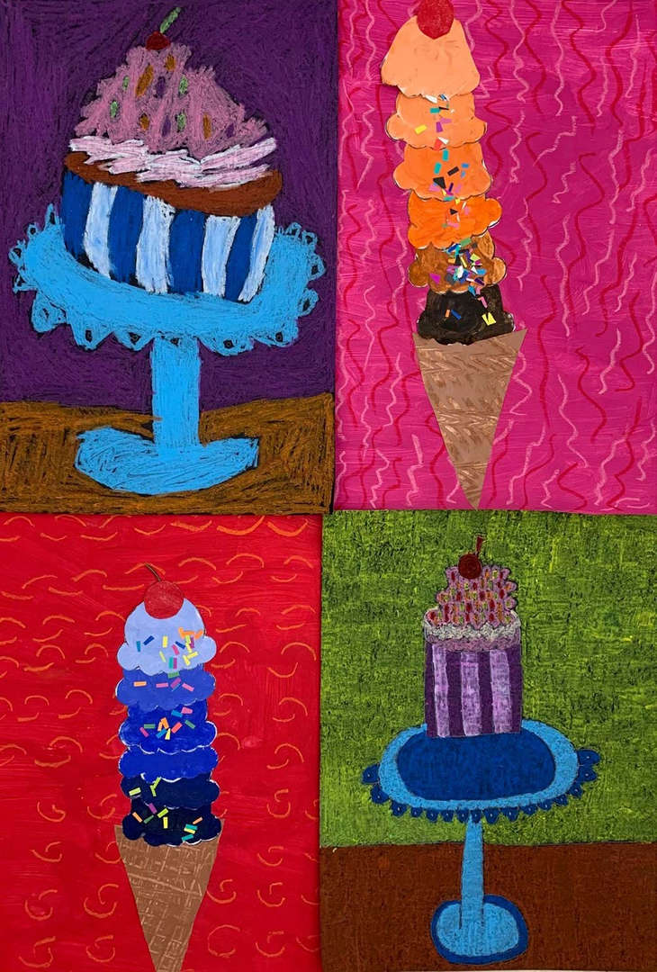 Ice cream cone artwork