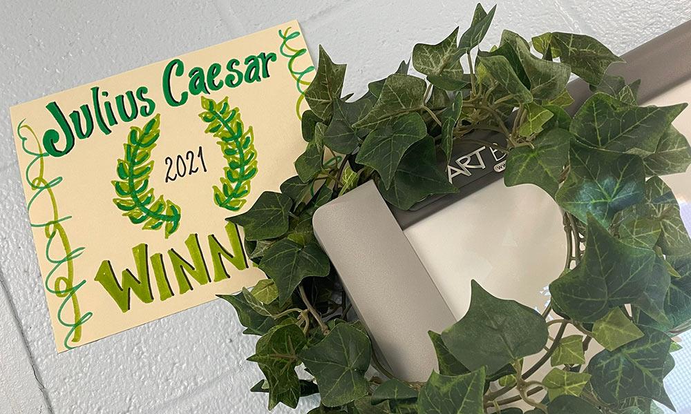 Julius Caesar 2021 Winner Sign