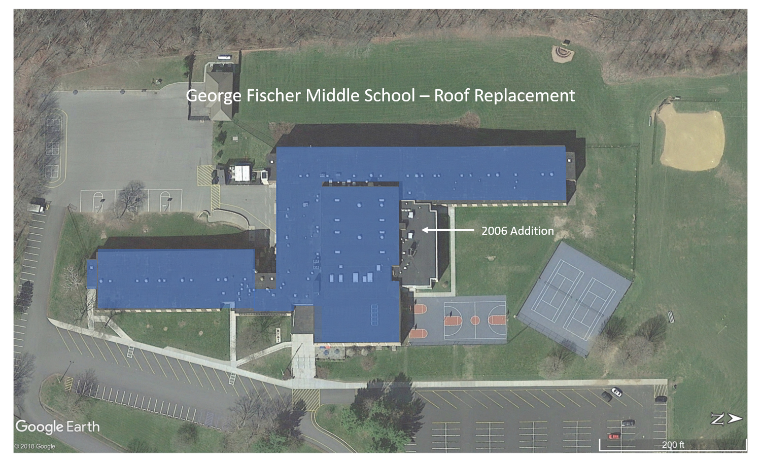George Fischer Middle School (replacement sections are shown in blue)
