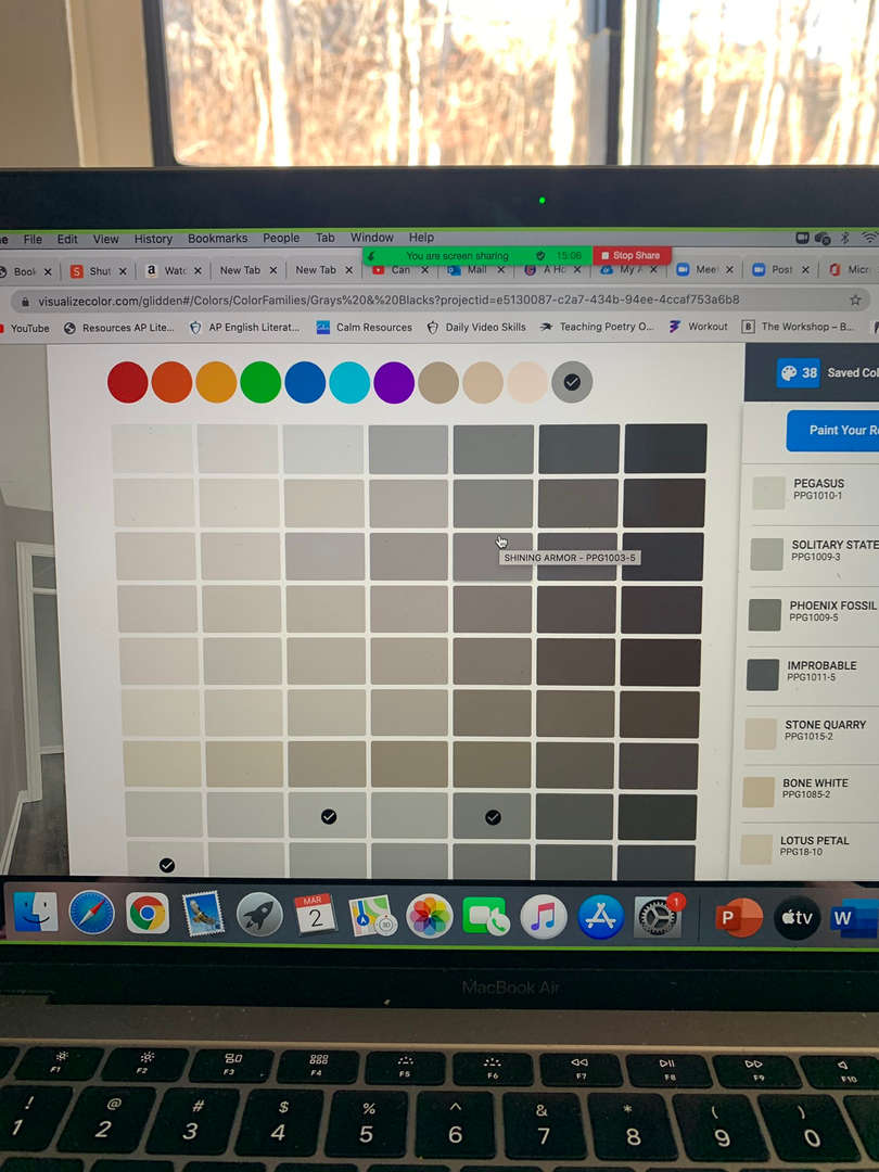 Virtual Paint Swatch Gallery