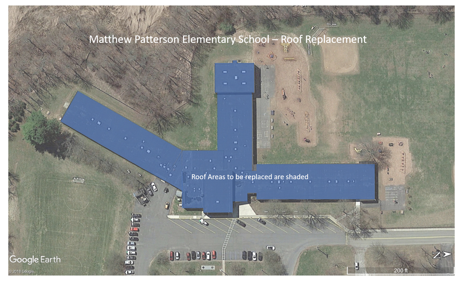 Matthew Paterson Elementary School (replacement sections are shown in blue)