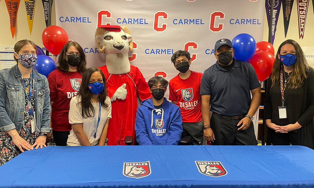 Morey & Family with CHS Administrators on Signing Day