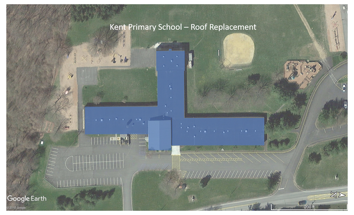 Kent Primary Elementary School (replacement sections are shown in blue)