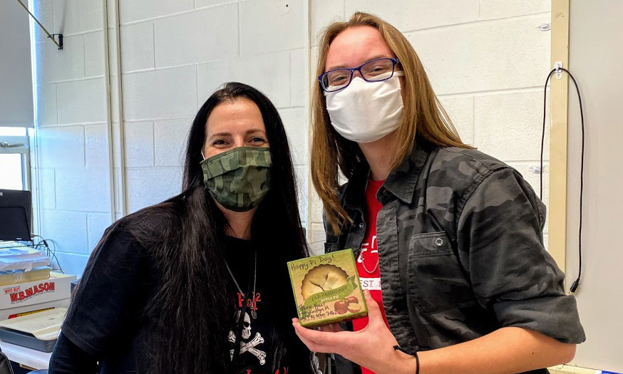 CHS teachers show off apple pie for Pi Day