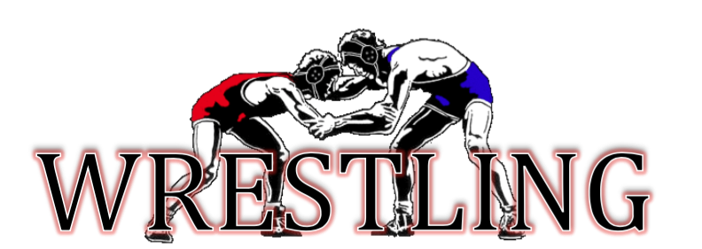 WRESTLING LOGO WITH TWO BOYS WRESTLING