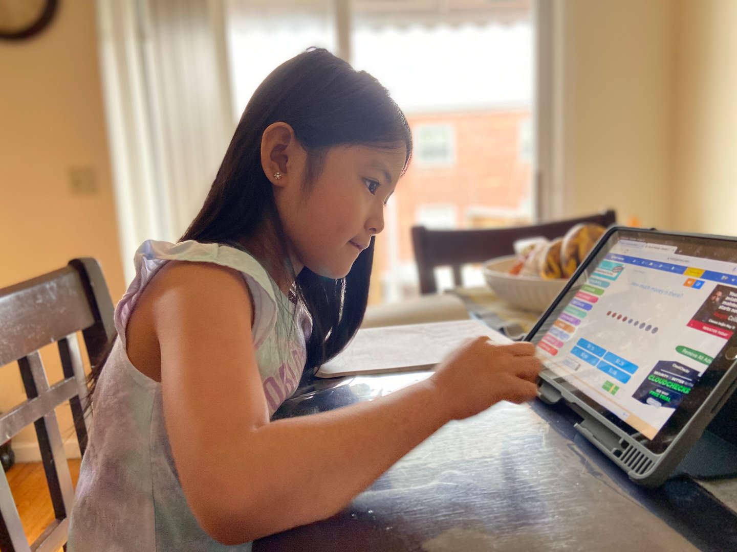 Khloe from Ms Hernandez's 2nd grade working hard at home