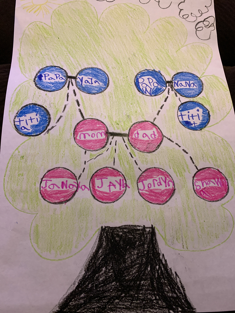 Ms. Diciembri's class create family trees