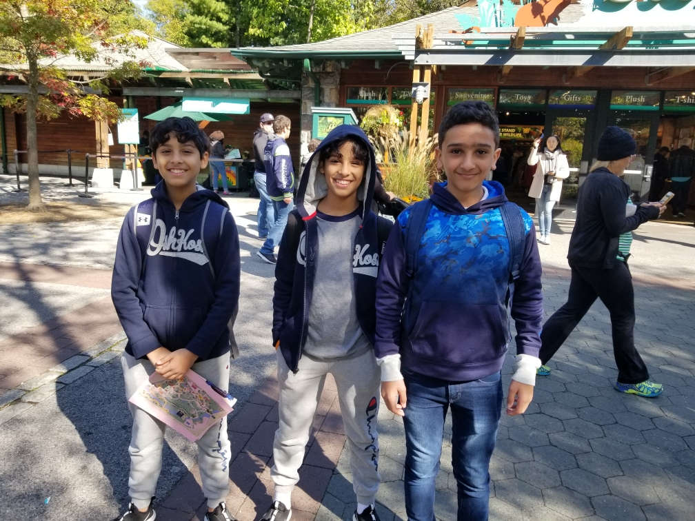 Students in grades 6,7&8 participate in an Urban Advantage outing with their parents at the Zoo in the Bronx.