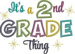 2nd grade logo saying its a 2nd grade thing