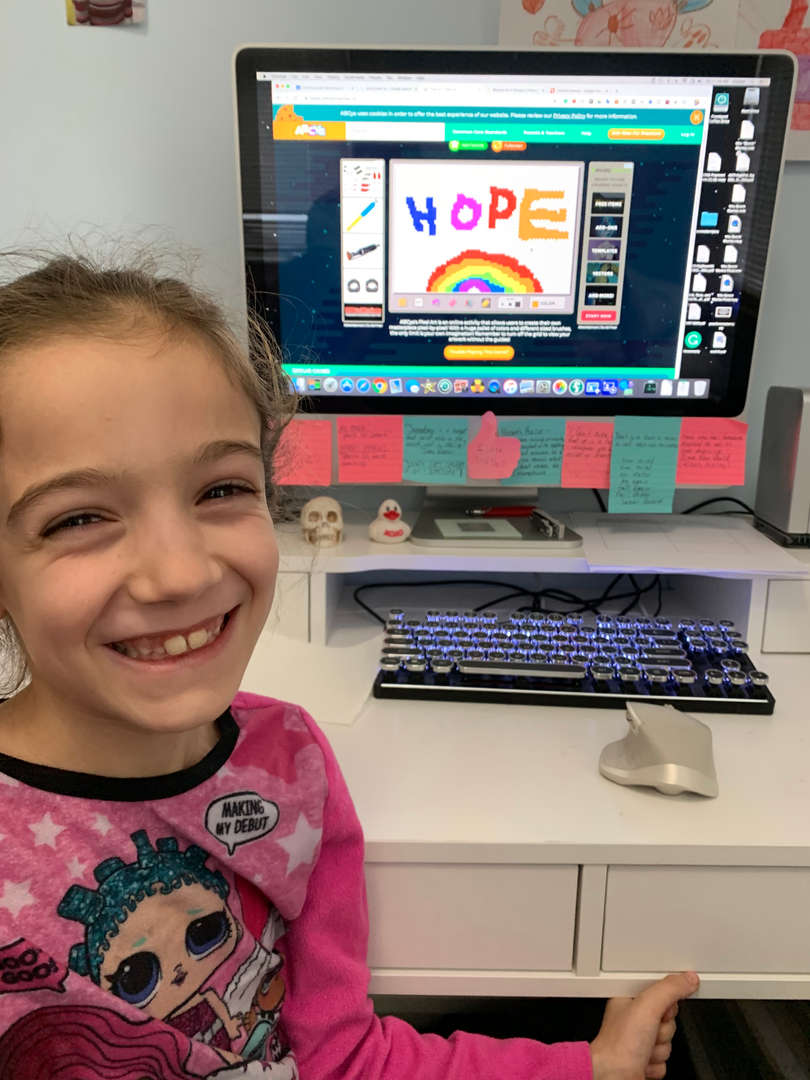Madelyn 205 creates a hopeful rainbow