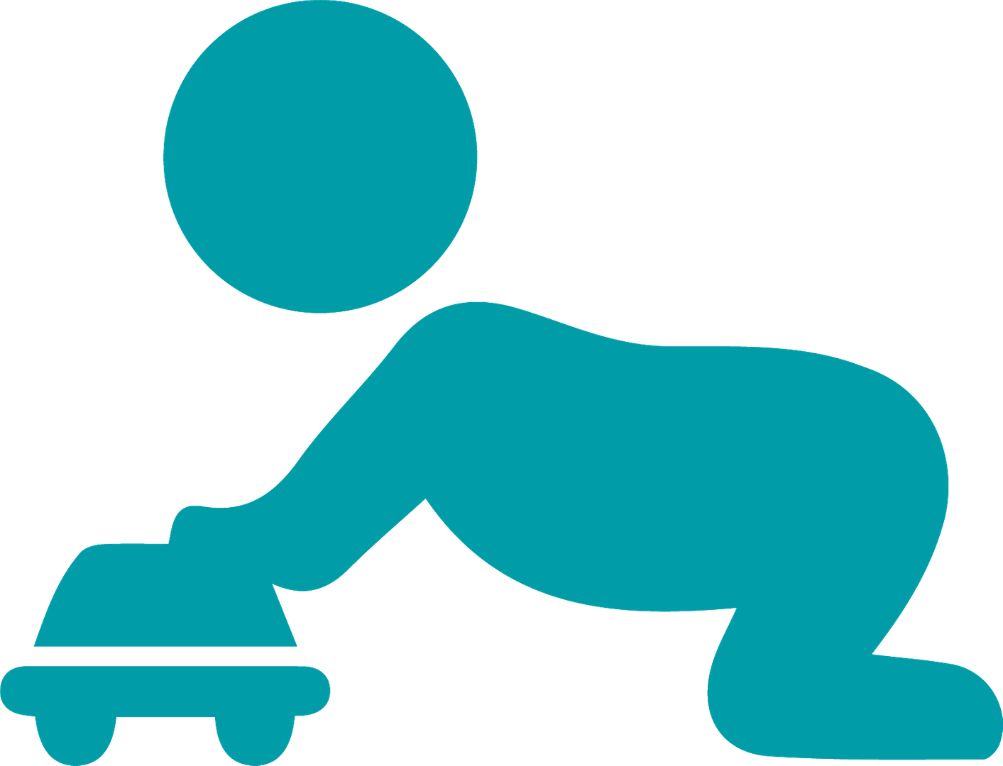 Infant crawling icon