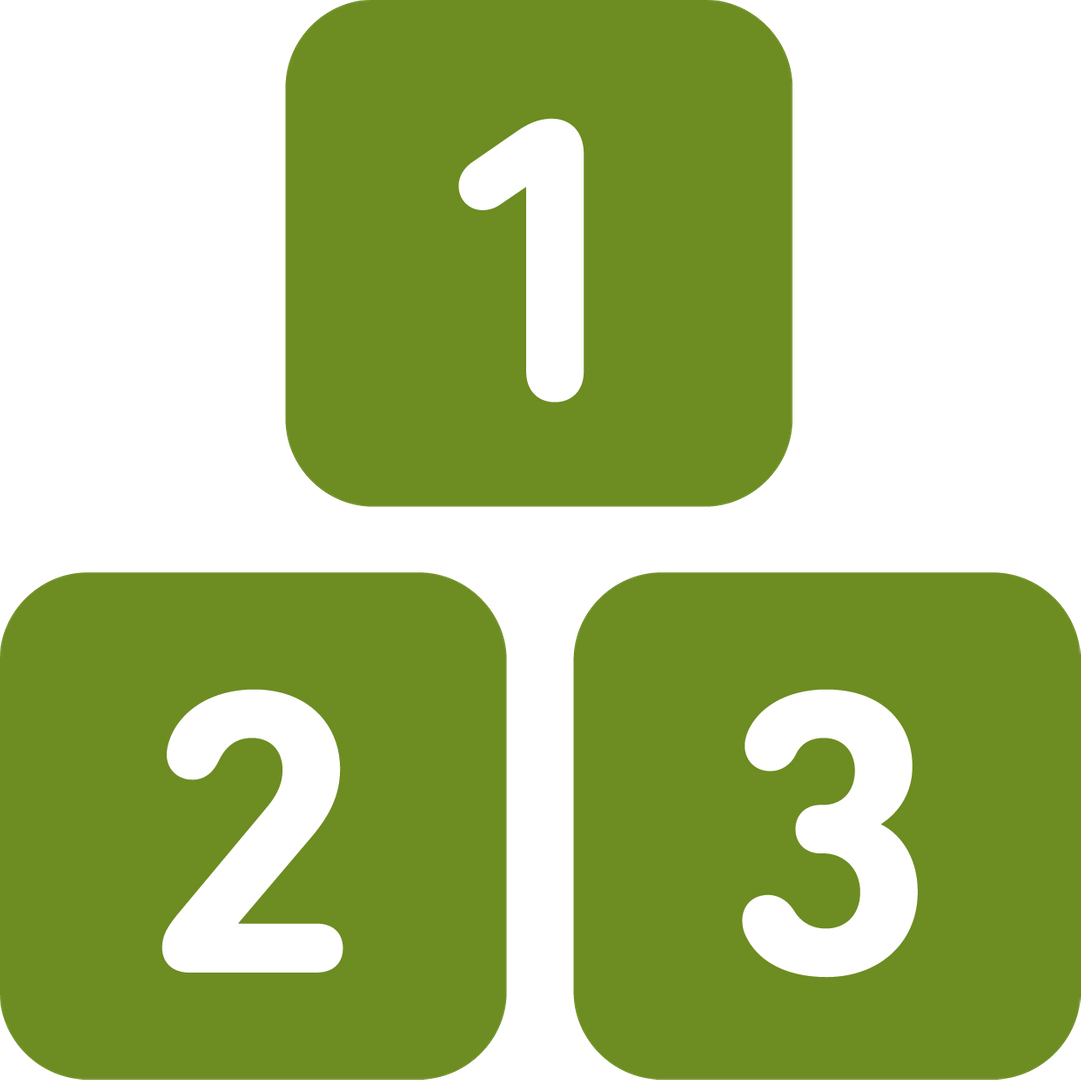number building blocks icon