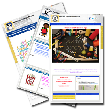 Picture of teacher home pages