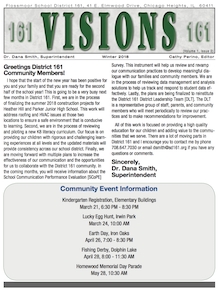 Visions Newsletter Winter cover