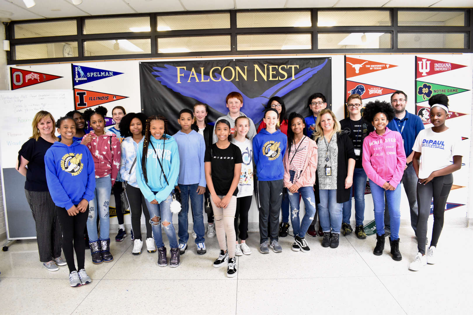Parker Junior High students who participated in the state History Fair in Springfield.