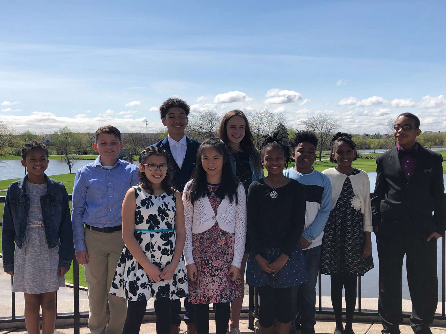 The District 161 2019 recipients of the Illinois Principal's Association Student Recognition