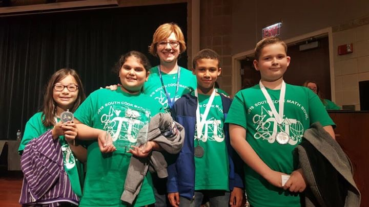 District 161 Division B Team (3rd/4th Grade) 4th place winners at the South Cook Math Bowl