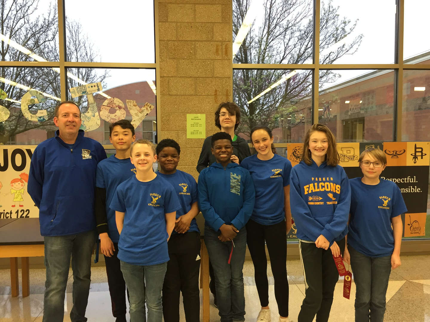 Parker Scholastic Bowl Falcons finished second in the sectional tournament at Martino Junior High