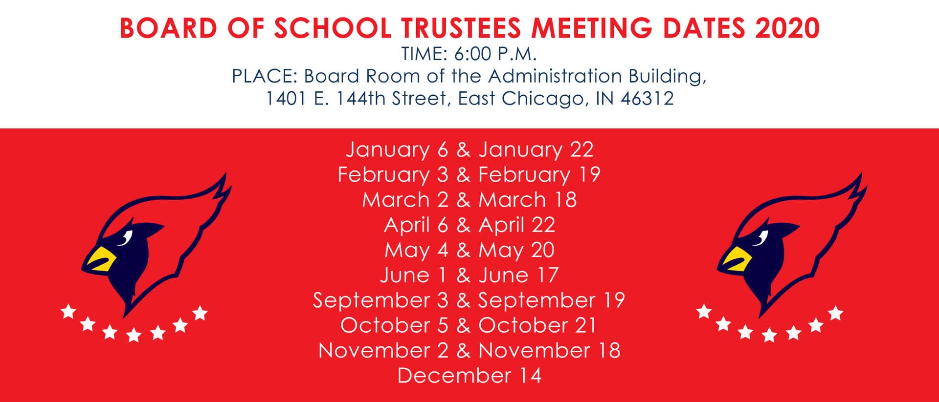 School Board Meeting Schedules
