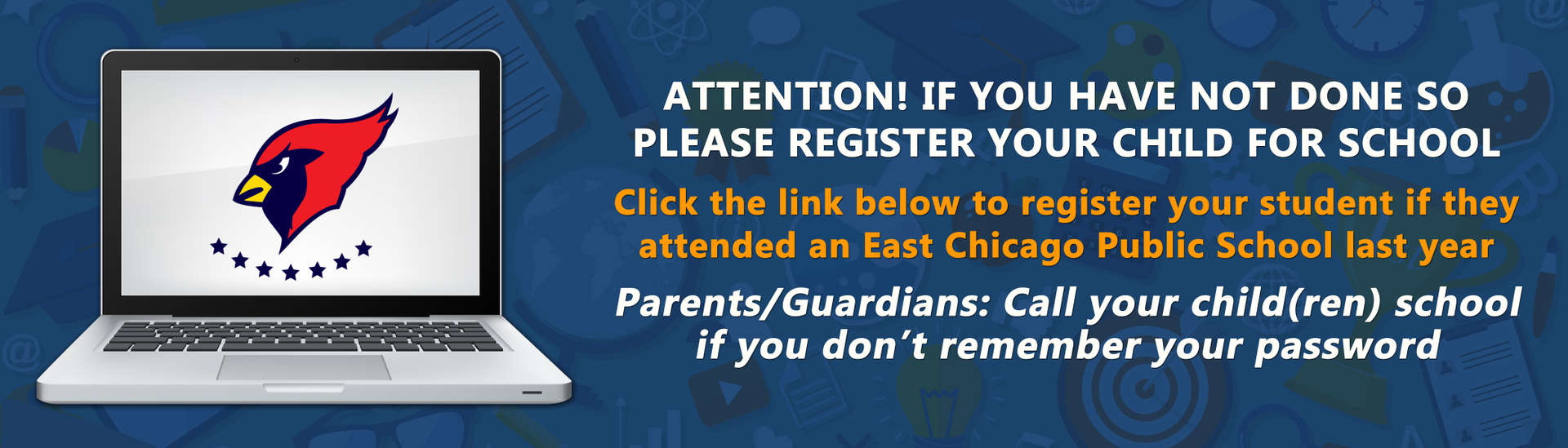 Please Register you child if you have not done so