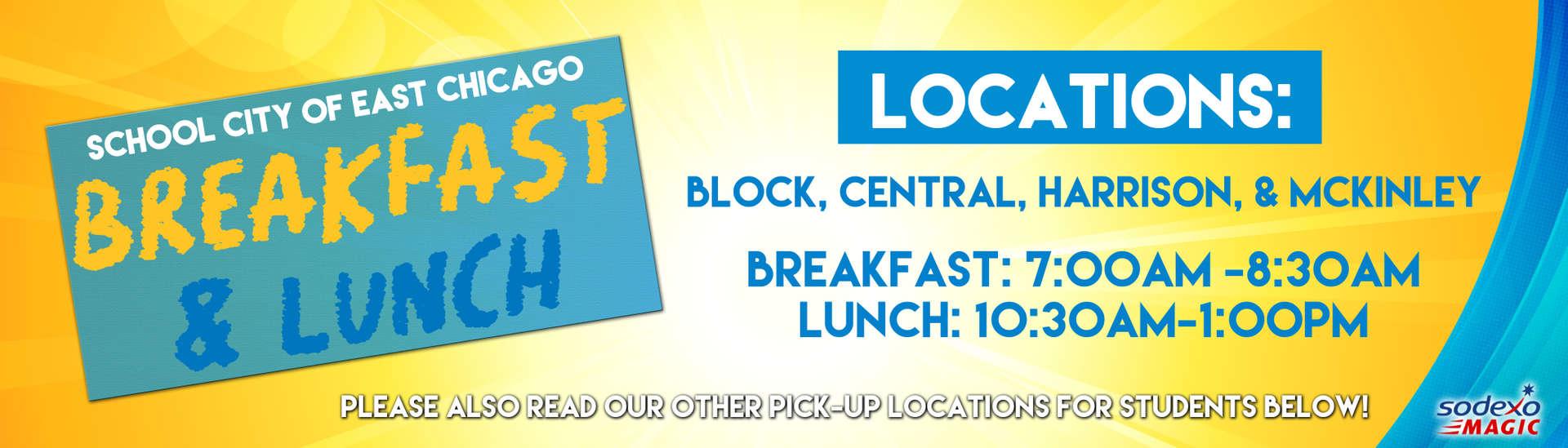 Breakfast & Lunch Locations