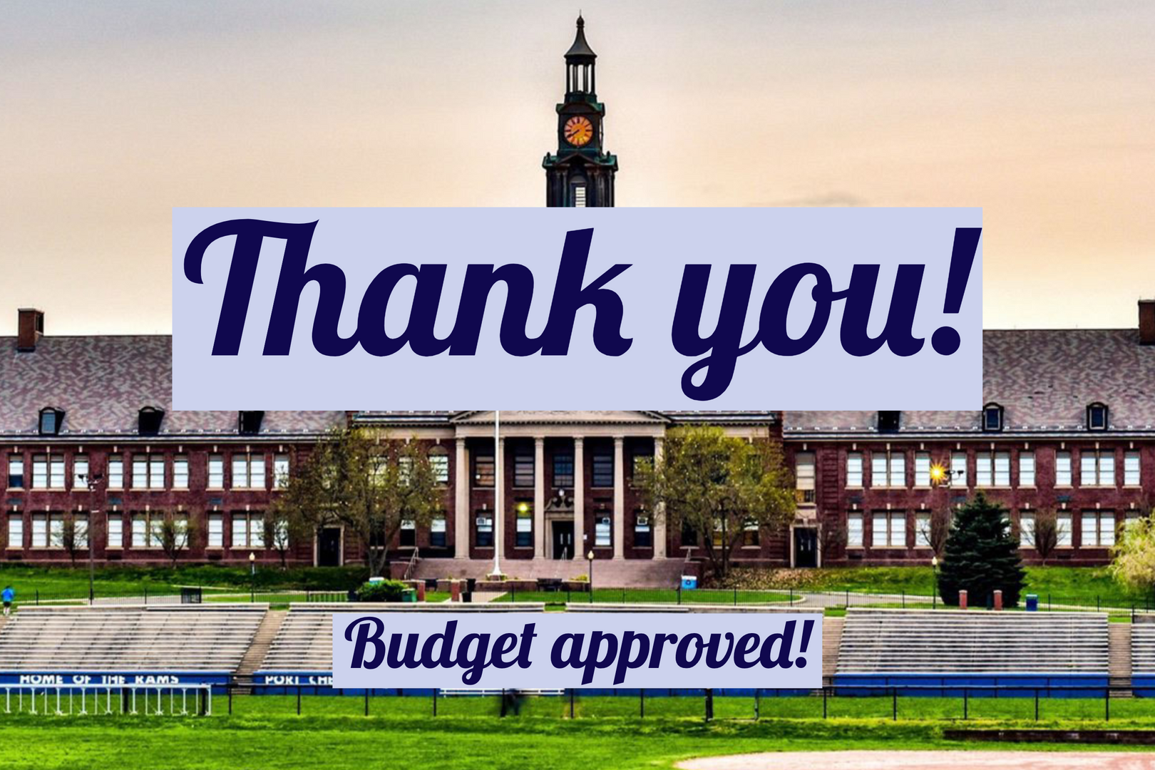 Budget thank you graphic