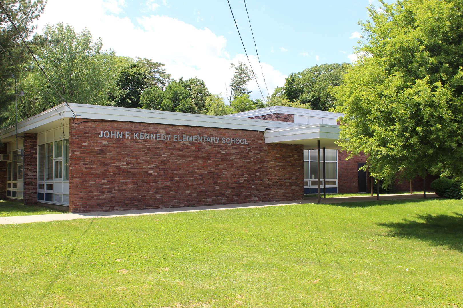 Exterior of John F. Kennedy Elementary School.