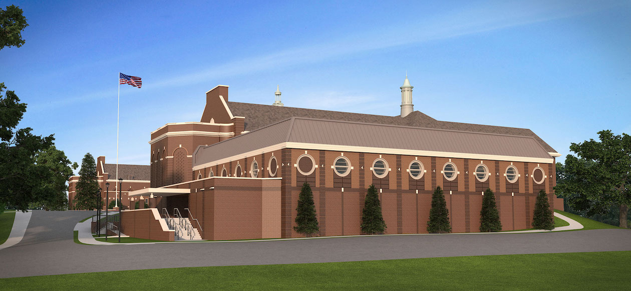 architectural rendering of PCHS gym