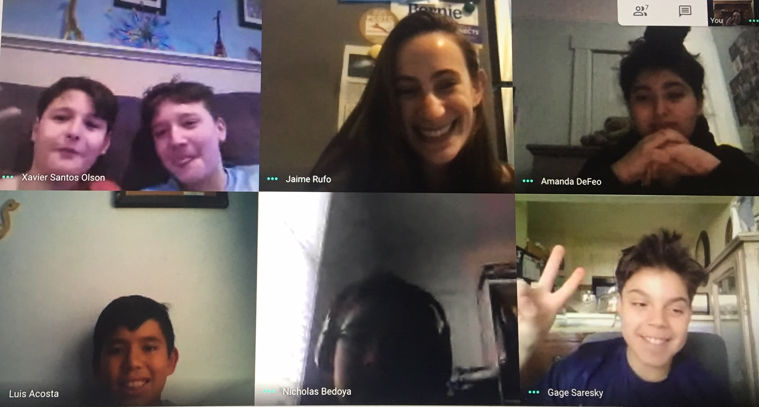 Club meeting during a Zoom session