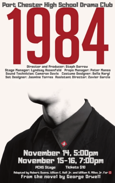 """Flyer for high school production of """"1984"""""""